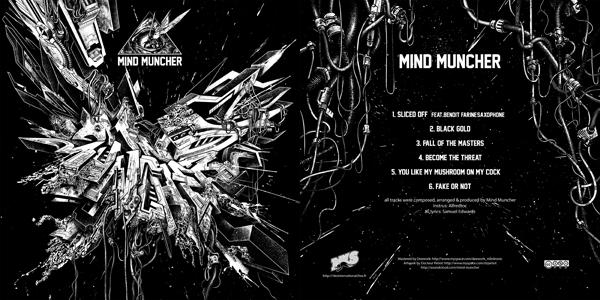 [NKS prod 64] MIND MUNCHER -electrocore metal dubreakhardrum Mindmuncher_recto_versoX300